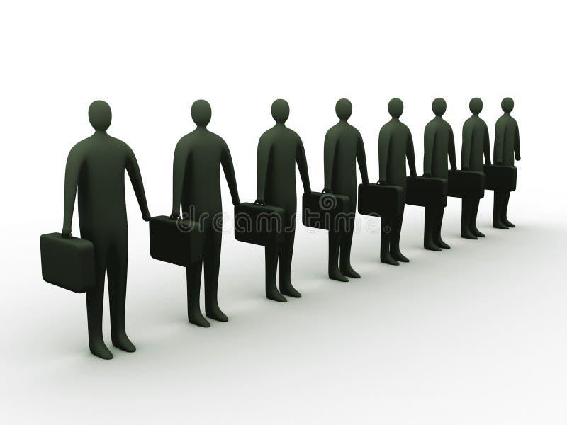Hommes d'affaires dans la ligne illustration libre de droits