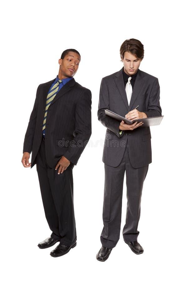 Hommes d'affaires - espionnage de corporation photo libre de droits