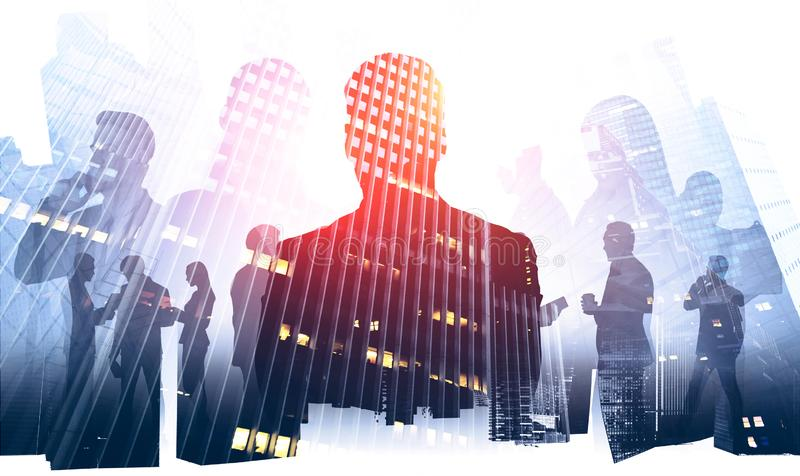 Hommes d'affaires et mode de vie d'entreprise photographie stock