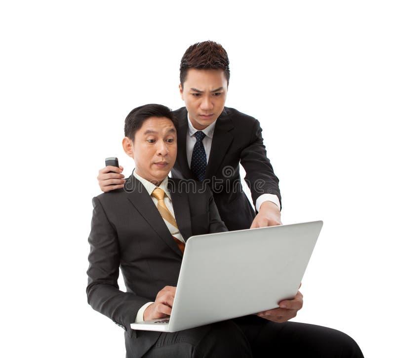 Hommes d'affaires intéressés photos libres de droits