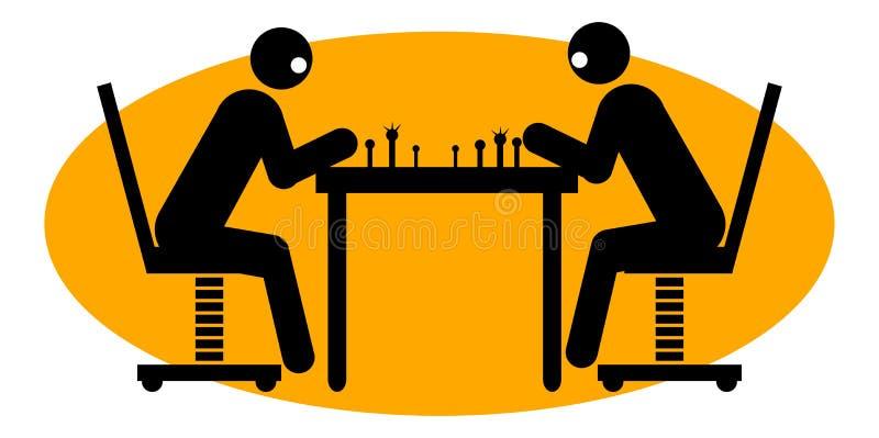 Hommes d'affaires jouant aux échecs illustration de vecteur