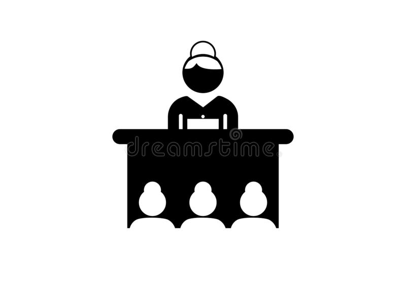 Hommes d'affaires, logo d'ic?ne de diagramme illustration libre de droits