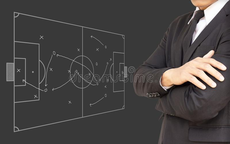 Hommes d'affaires prévoyant des concepts du football images stock