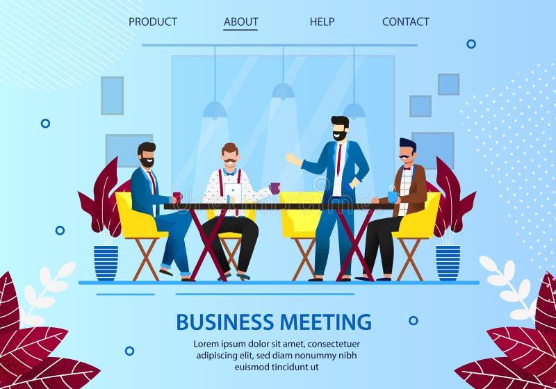 Hommes d'affaires se r?unissant ? la pause-caf? dans le bureau illustration de vecteur