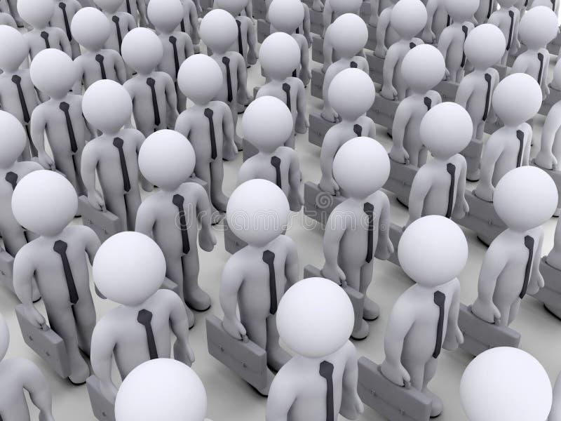 Hommes d'affaires se tenant près de l'un l'autre illustration libre de droits