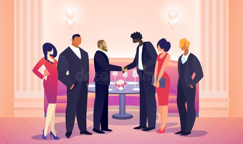Hommes d'affaires Team Leaders Meet pour l'affaire r?ussie illustration libre de droits