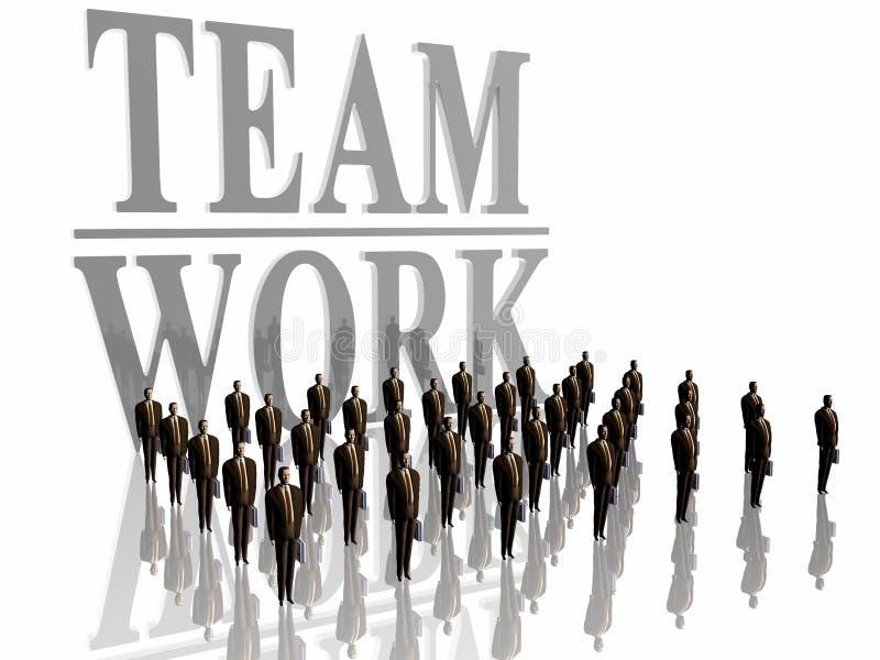 Hommes d'affaires, travail d'équipe. illustration libre de droits