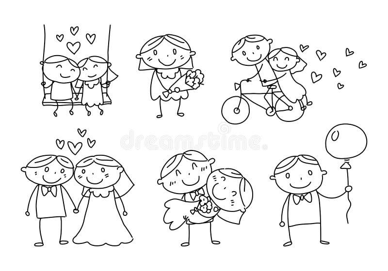 Hommes d'amour et femmes graphiques, vecteur illustration de vecteur