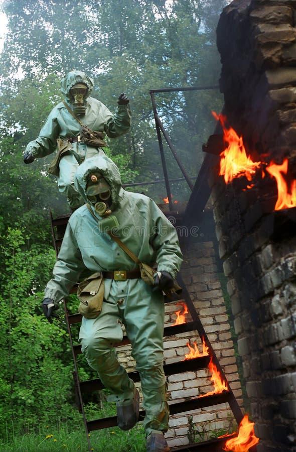 Hommes d'incendie images stock