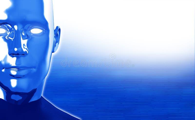 Hommes d'un androïde de robot illustration de vecteur