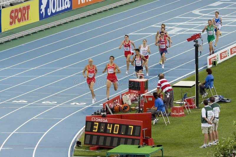 hommes de 1500 mètres photographie stock