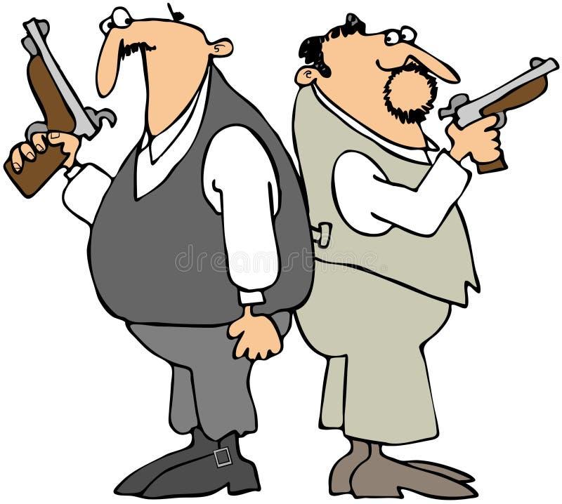 Hommes de duel illustration de vecteur