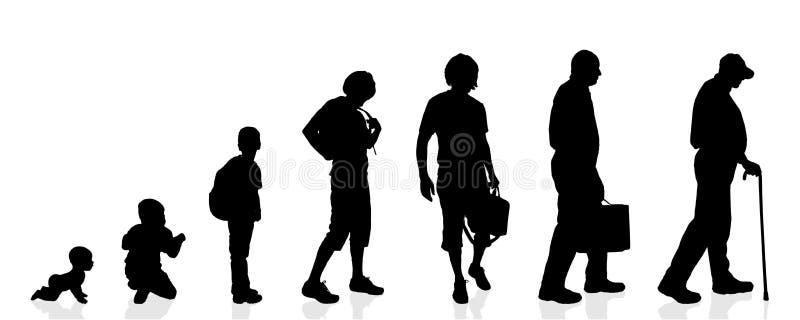 Hommes de génération de silhouette de vecteur illustration stock