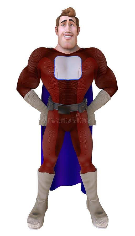 Hommes de super héros d'isolement sur un fond blanc 3d illustration de vecteur