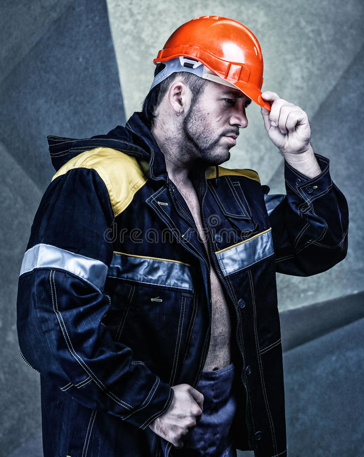 Hommes de travailleur images libres de droits