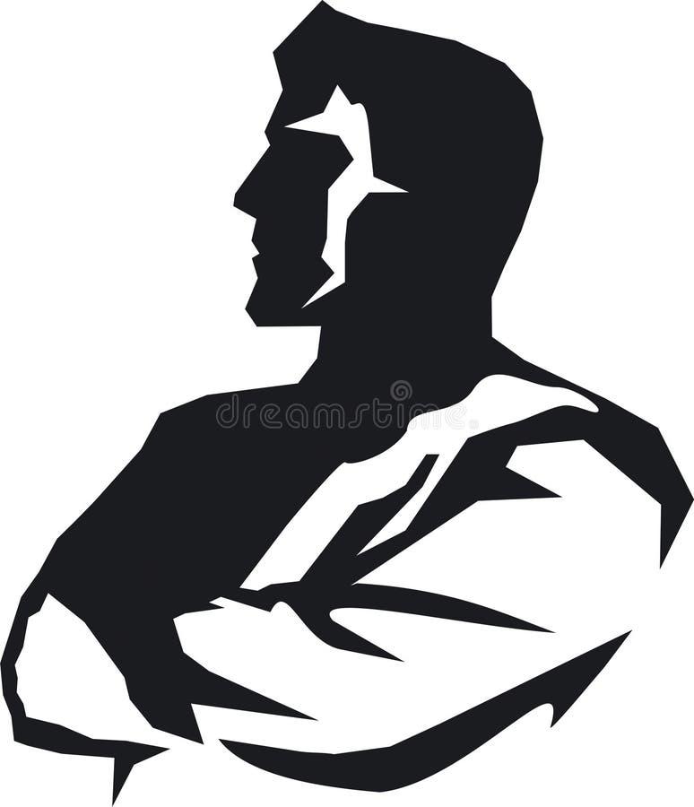Hommes. Emblème abstrait illustration stock