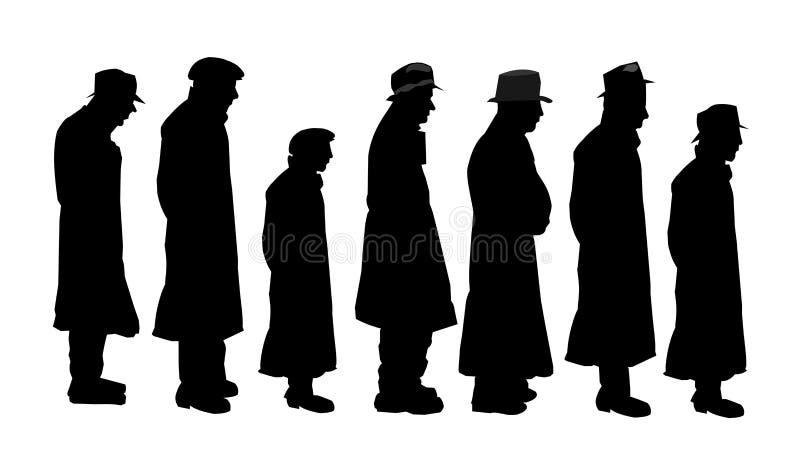 Hommes en silhouette illustration stock