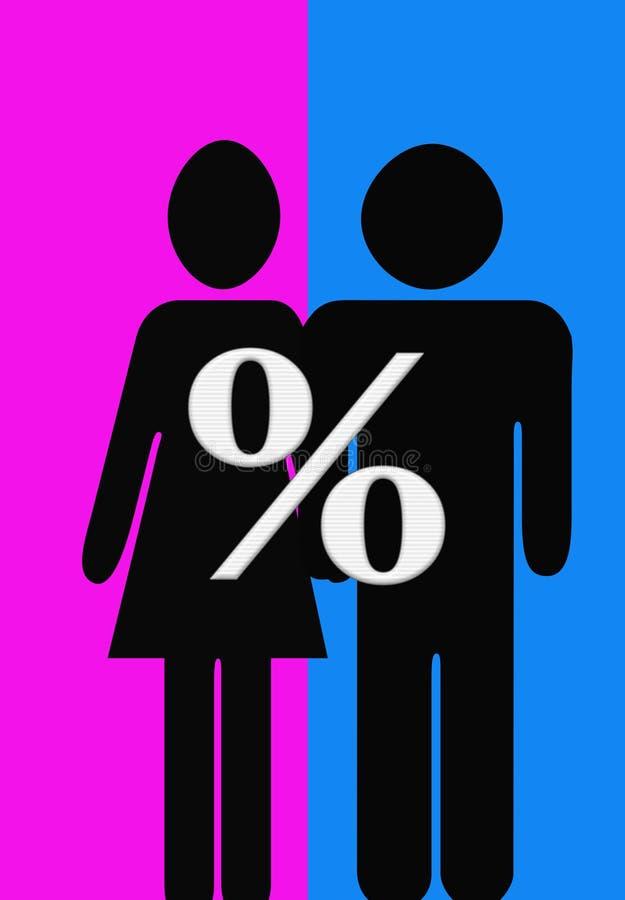 Hommes et femmes illustration libre de droits