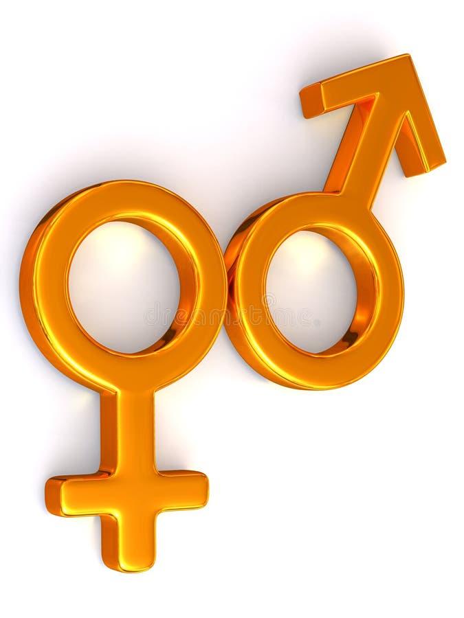 Hommes et femmes de symbole. Amour illustration libre de droits