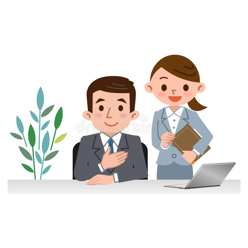 Hommes et femmes des conseillers illustration stock