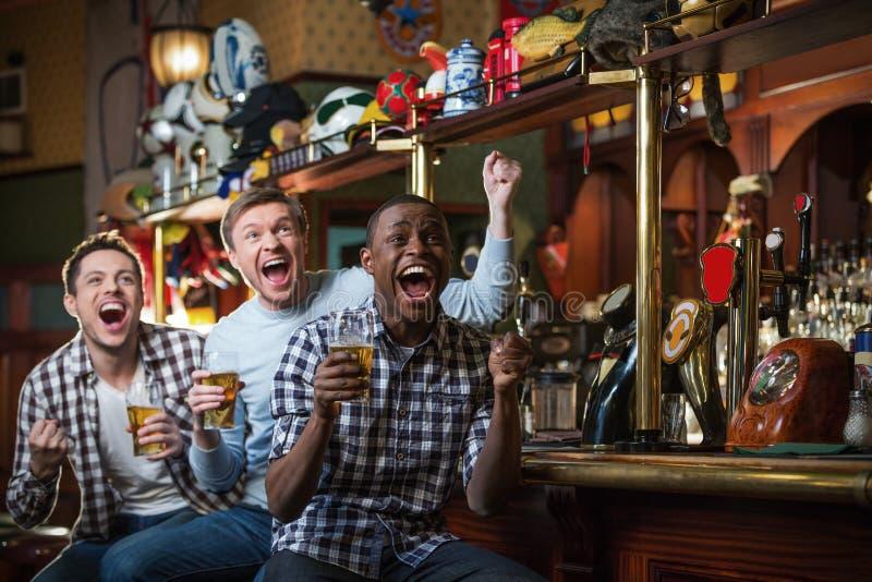 Hommes heureux photos libres de droits
