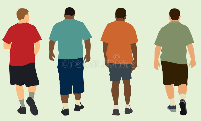 Hommes marchant loin illustration stock