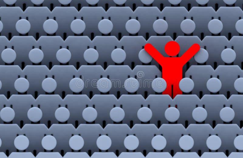 Hommes parmi la foule des gens