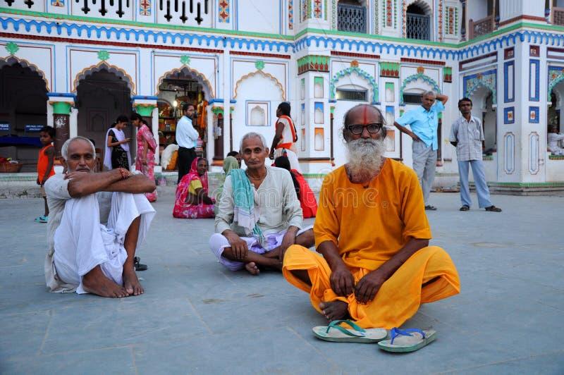 Hommes saints au Népal photo libre de droits