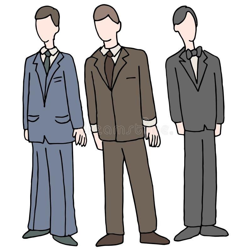 Hommes utilisant le vêtement formel illustration de vecteur