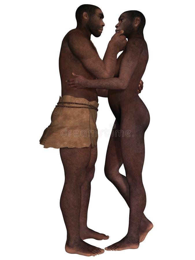 Homo Erectus ilustração stock