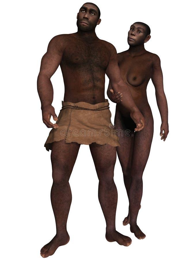 Homo Erectus stock illustratie