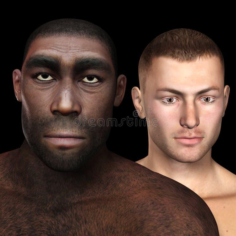 Homo erectus illustration de vecteur