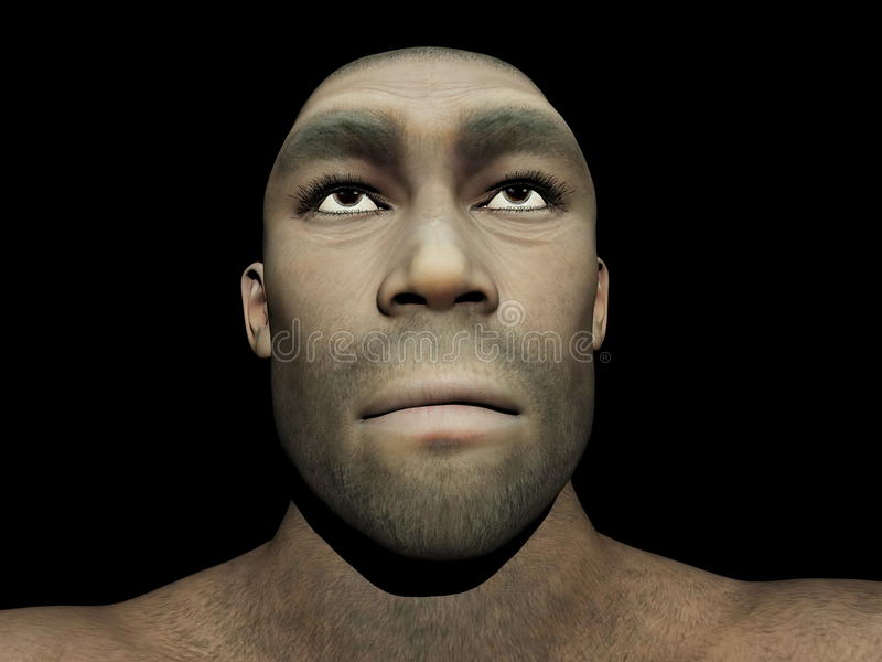 Homo erectus samiec - 3D odpłacają się ilustracja wektor