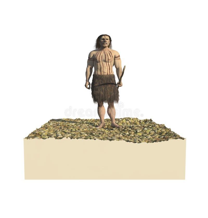 Homo Neanderthal stock abbildung