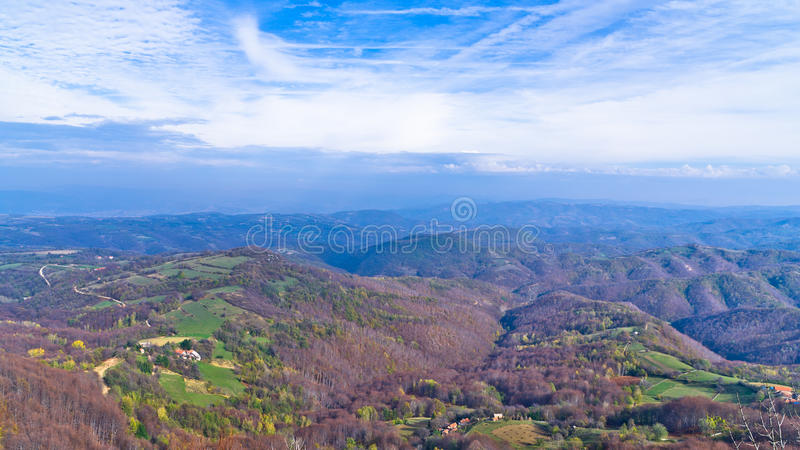 Homolje mountains landscape on a sunny autumn day stock images