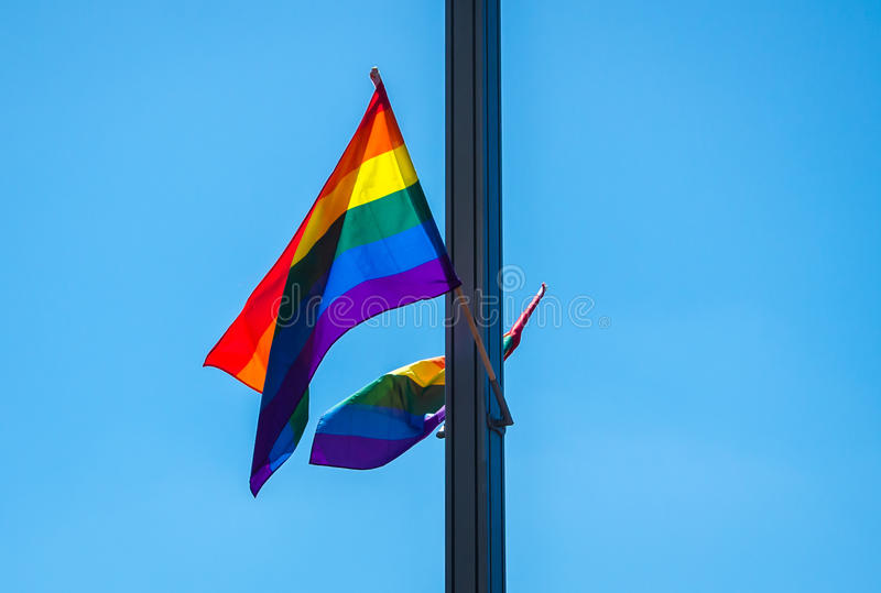 Homoseksualista flaga zdjęcia royalty free