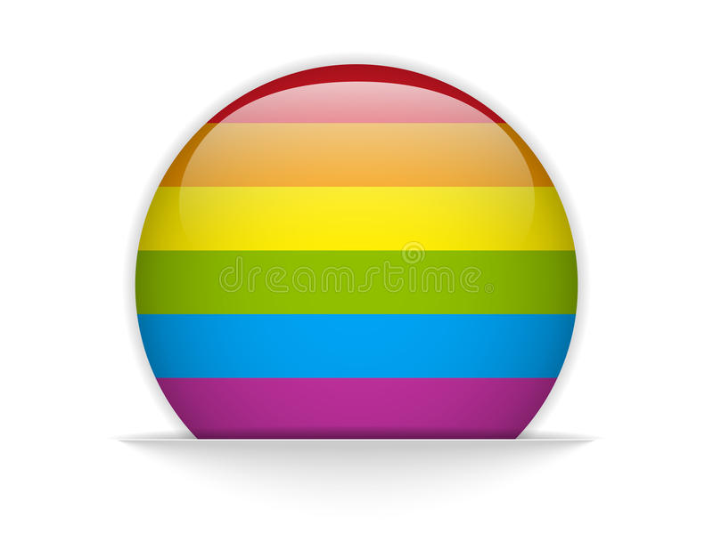 Homoseksualista flaga okrąg Paskujący guzik royalty ilustracja