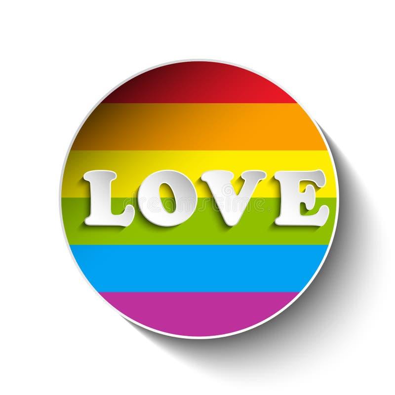Homoseksualista flaga okręgu Pasiasty majcher ilustracja wektor