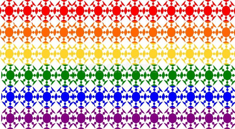 Homoseksualista I Lezbijka wzór ilustracja wektor
