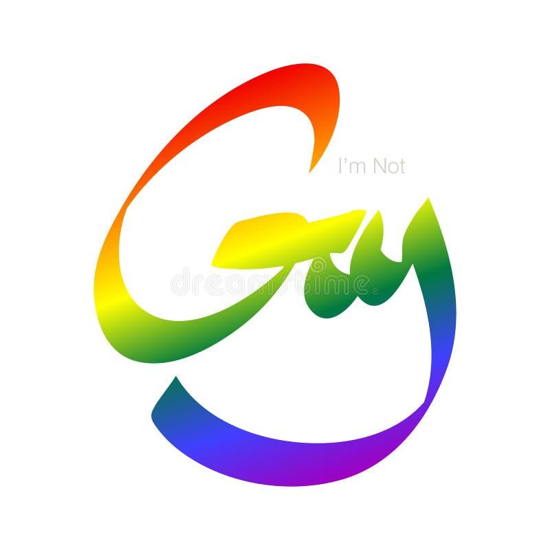 homoseksualista nie szyldowy royalty ilustracja