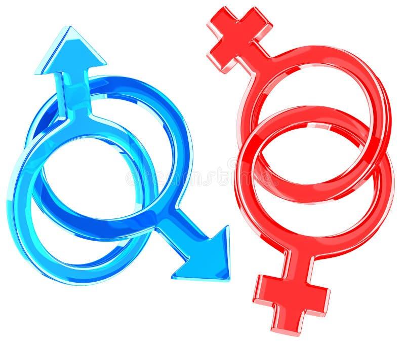 Homoseksualiteit stock illustratie