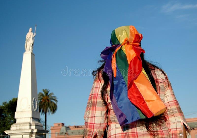 homoseksualna Argentina parada obrazy stock