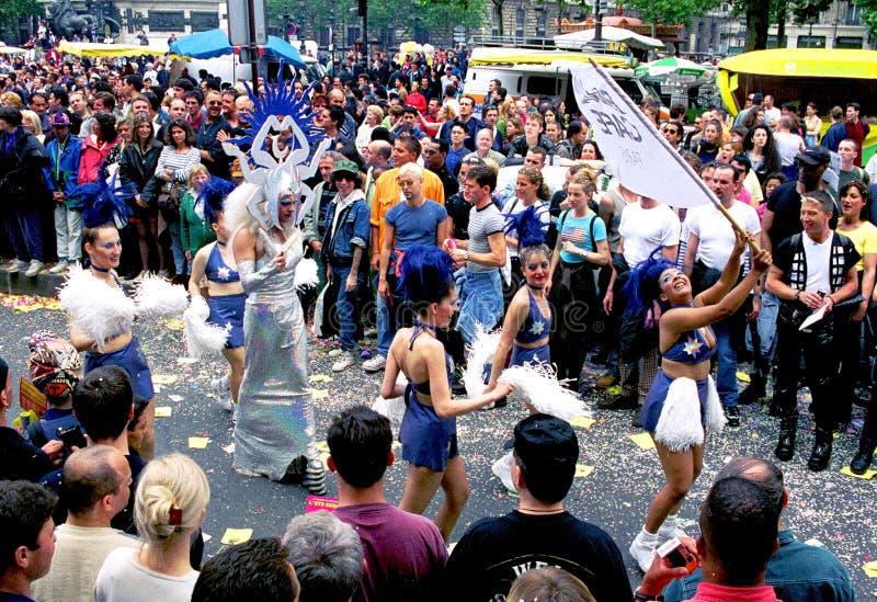 Homoseksualna duma w Paryż zdjęcia royalty free
