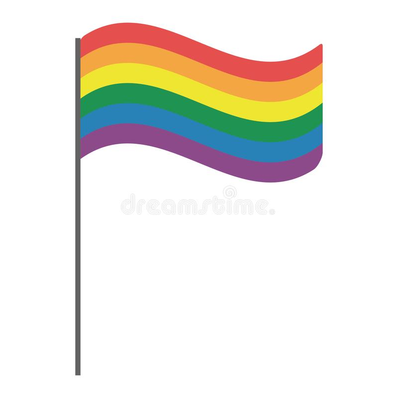 Homoseksualna dumna kreskówka royalty ilustracja