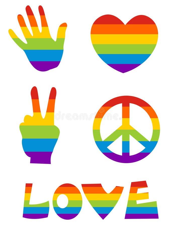 homoseksualna ikona s ilustracja wektor