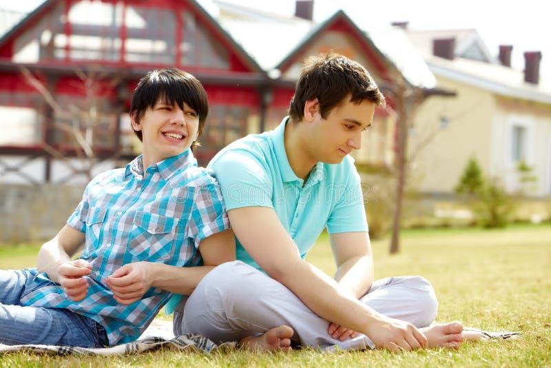 Homoseksualna para obrazy royalty free