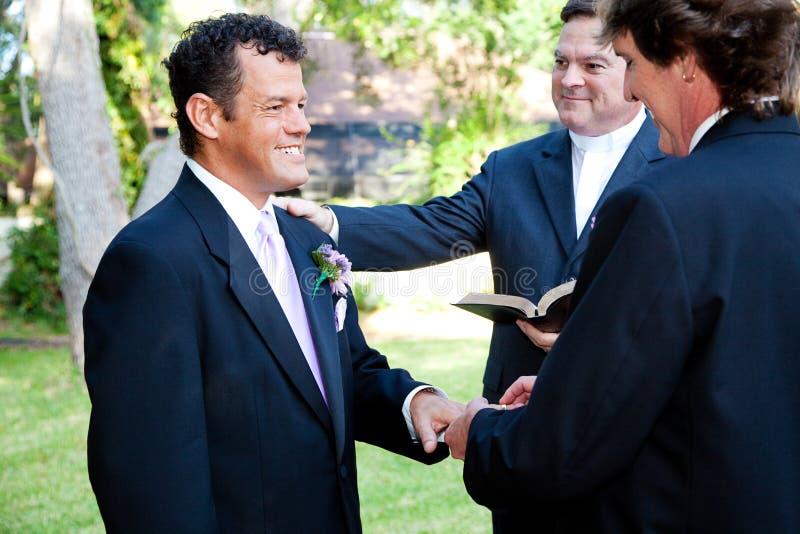Małżeństwo Homoseksualne - Z Ten pierścionkiem obrazy royalty free