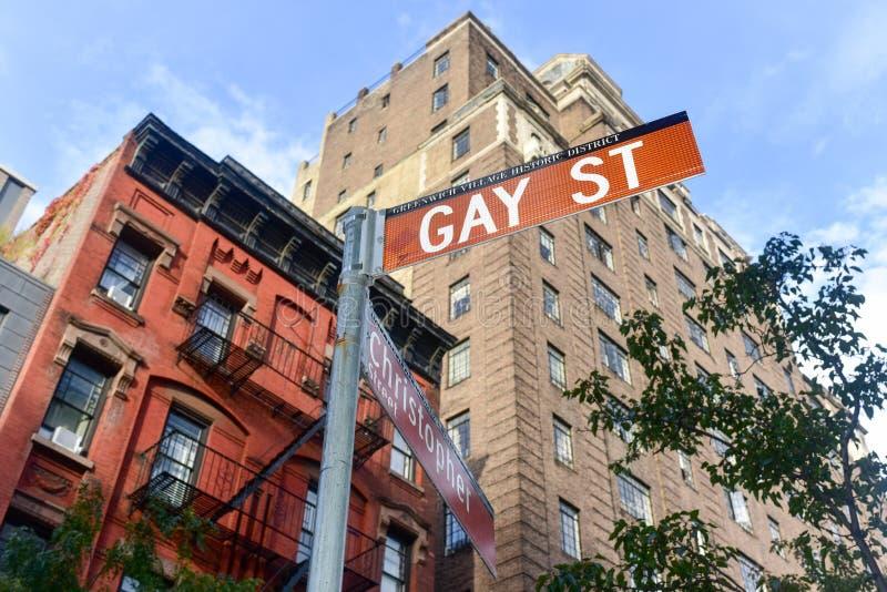 Homoseksualna ulica w greenwichu village w Miasto Nowy Jork zdjęcie royalty free