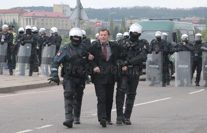 homoseksualni Lithuania marszu dumy prostesters obraz royalty free