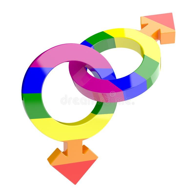 Homoseksualni symbole ilustracja wektor